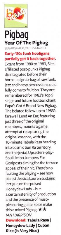 Pigbag Album Review Q April 2013