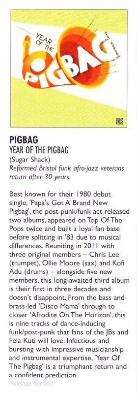 Pigbag Vive le Rock Review