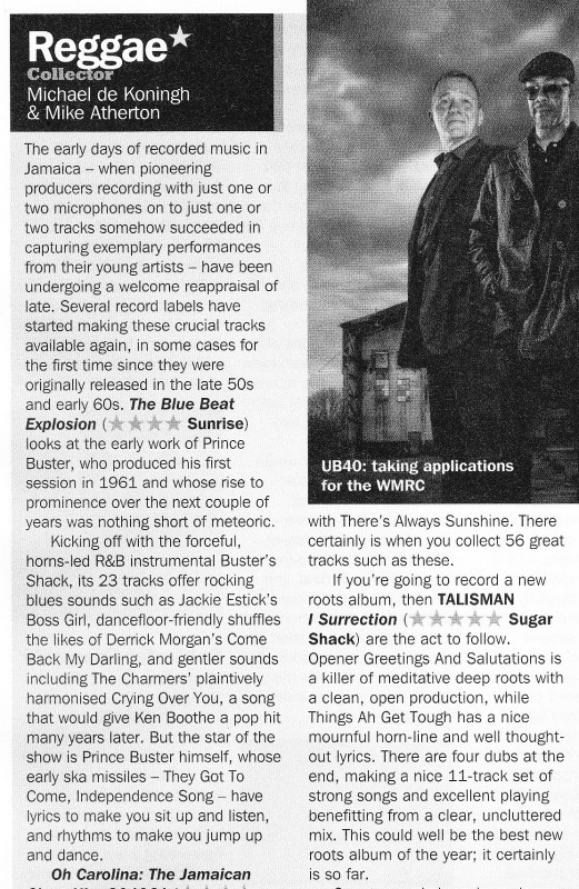 Talisman I-Surrection Record Collector 5 star review Oct 2013