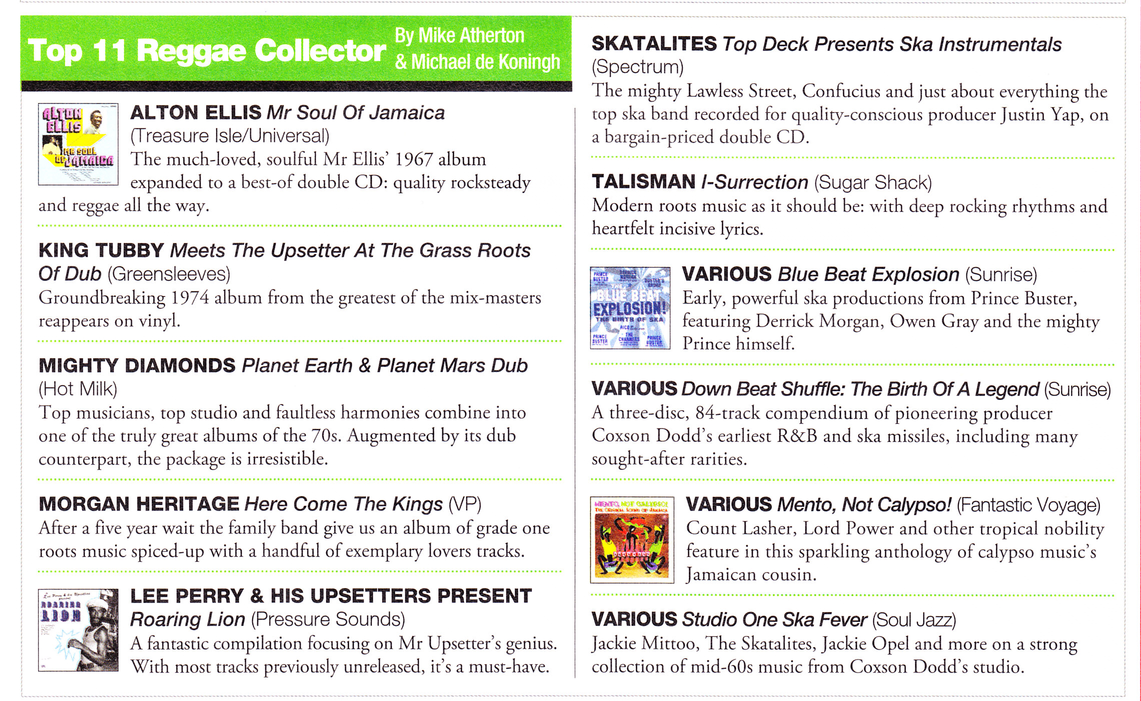 Record Collector Best Reggae Albums of 2013 Talisman I Surrection