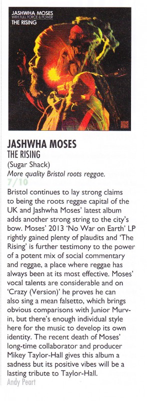 Jashwha Moses Vive le rock review The Rising 7 out of 10